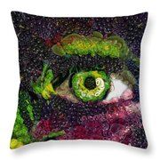 Eye And Butterflly Vegged Out Throw Pillow