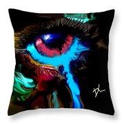 Eye Ball Study Two Throw Pillow