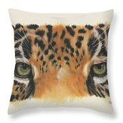 Jaguar Gaze Throw Pillow