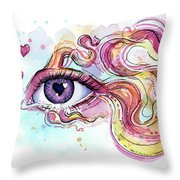 Eye Fish Surreal Betta Throw Pillow