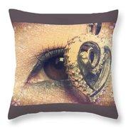 Eye Heart U Throw Pillow