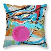 Eye In Blue Throw Pillow