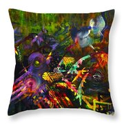 Eye In Chaos Throw Pillow