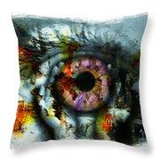 Eye In Hands 001 Throw Pillow