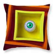 Eye In The Box Throw Pillow