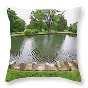 Eye Lake Throw Pillow