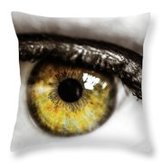 Eye Macro3 Throw Pillow