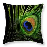 Eye Of A Peafowl Throw Pillow