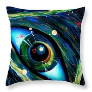 Eye Of Immortal Eternity. Timeless Space 2 Throw Pillow