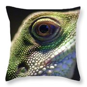 Eye Of Lizard Throw Pillow