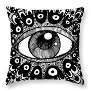 Eye Of March Throw Pillow