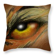 Eye Of The Beast Throw Pillow by Kevin Middleton