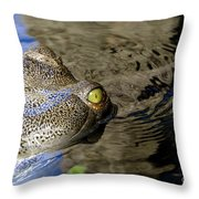 Eye Of The Crocodile Throw Pillow