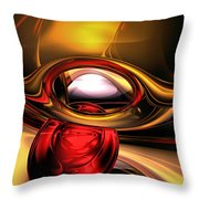 Eye Of The Gods Abstract Throw Pillow