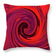 Eye Of The Honu - Red Throw Pillow