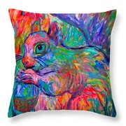 Eye Of The Squirrel Throw Pillow