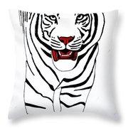 Eye Of The Tiger Throw Pillow