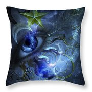 Eye Of The Witch Throw Pillow
