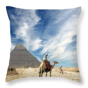 Eye On Egypt Throw Pillow
