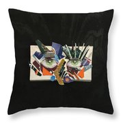 Eye Owe/ Or Up To My Eyes In Debt Throw Pillow