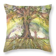 Eye See My Healing Tree Throw Pillow
