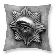 Eye Star Throw Pillow