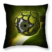 Eye Will See You In The Garden Throw Pillow