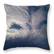 Eyes In The Clouds Throw Pillow