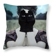 Eyes Throw Pillow by Joana Kruse