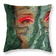 Eyes Of Emerald Throw Pillow