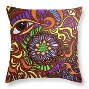 Eyes Of Fire Throw Pillow