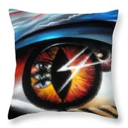 Eyes Of Immortal Soul Throw Pillow