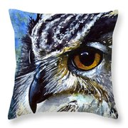 Eyes Of Owls No.25 Throw Pillow