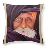 Eyes Of Rajasthan Throw Pillow