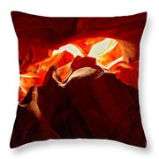 Eyes Of The Canyon Throw Pillow
