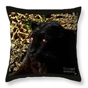 Eyes Of The Panther Throw Pillow