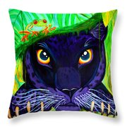 Eyes Of The Rainforest Throw Pillow