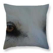Eyes Of The Wolf - In Her Eyes Throw Pillow