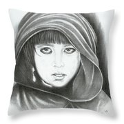 Eyes Of War Throw Pillow