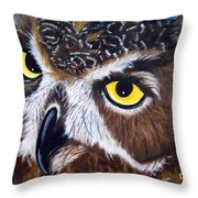 Eyes Of Wisdom Throw Pillow