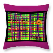 Eyes On The Grid Throw Pillow