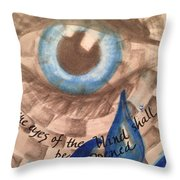Eyes Shall Be Opened Throw Pillow