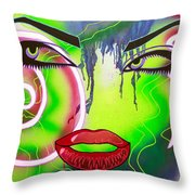 Eyes That Could Kill Throw Pillow