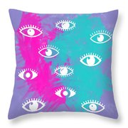 Eyes, The Look Throw Pillow
