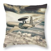 Eyes With An Altitude Throw Pillow