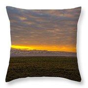 Eyjafjallajokull Sunrise Iceland Throw Pillow