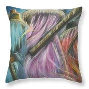 Eyo Masquerade Colorful Throw Pillow