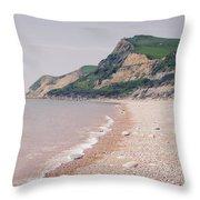 Eype Beach Throw Pillow