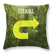 Ezekiel Books Of The Bible Series Old Testament Minimal Poster Art Number 26 Throw Pillow