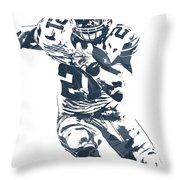 Ezekiel Elliott Dallas Cowboys Pixel Art 3 Throw Pillow